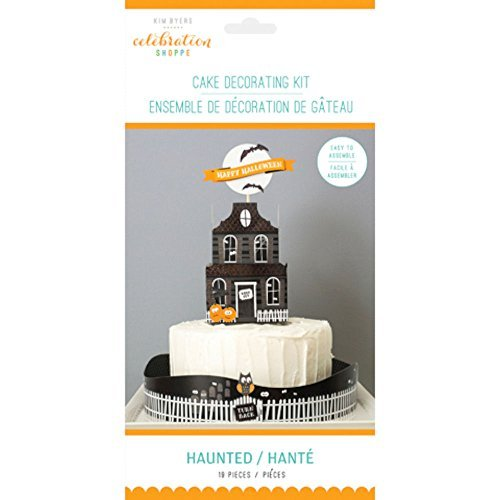 Celebration Shoppe Halloween Cake Decorating Kit - Haunted House Cake Topper - 19 (Fun Homemade Decorations For Halloween)