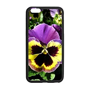 Pansy Flowers Custom Printed Design Durable for Iphone 6 Plus (5.5 Inch)