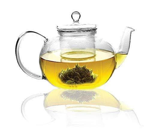 Sun's Tea (TM) 32oz Ultra Clear Heat Resistant Borosilicate Glass Teapot & Infuser for loose tea or display tea