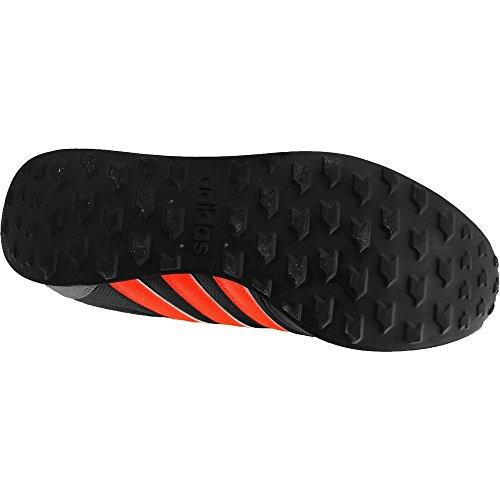 adidas V Racer, Scarpe da Ginnastica Uomo, Nero (Negbas/Rojsol/Onix), 46 EU