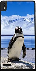 Funda para Huawei Ascend P6 - Hielo Pájaro Pingüino by WonderfulDreamPicture