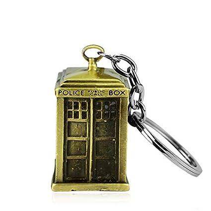 CLEARNICE Llavero Joyería De La Película Doctor Who Policía ...