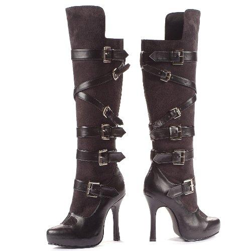 [Bandit Boots Shoes - Size 8] (Bandit Buckle Black Boots)