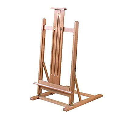 LING AI DA MAI Imported Red Oak Large Folding Children/Adult Easel, Wooden Tabletop Easel, Liftable Display Stand