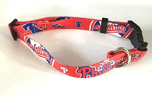 Philadelphia Phillies Pet Dog Adjustable Collar All Sizes (Small) (Philadelphia Phillies Dog Collar)
