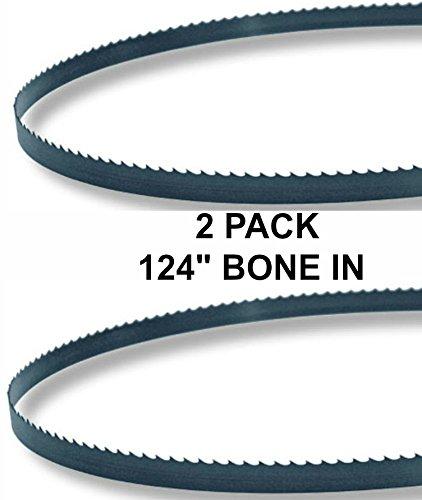 124x5/8x3TPI - 2 Pack Bone In Bandsaw Blades - Meat Cutting Fits Biro (Meat Cutting Blade)