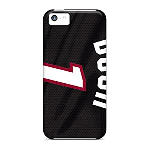 Great Hard Phone Cases For Iphone 5c (NSJ13833gTBC) Support Personal Customs HD Miami Heat Pattern