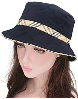 44aaacacfc533 Unisex Plaid Bordered Summer Cap Outdoor Fishing Hunting Bucket Hat (4  Colors)