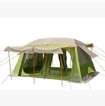 Al aire libre doble habitación y una habitación Camping 3 personas 4 tiendas de campaña 8 personas 10 personas dos habitación tienda, Green + khaki: Amazon.es: Deportes y aire libre