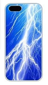Lightning Bolt6 Custom iPhone 5s/5 Case Cover Polycarbonate White
