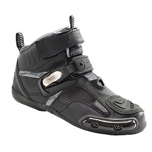 Joe Rocket Atomic Men's Motorcycle Riding Boots/Shoes (Black/Grey, Size 10)