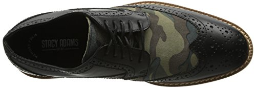 Stacy Adams Hombres Sweeney Oxford Negro Oliva Camuflaje Gamuza