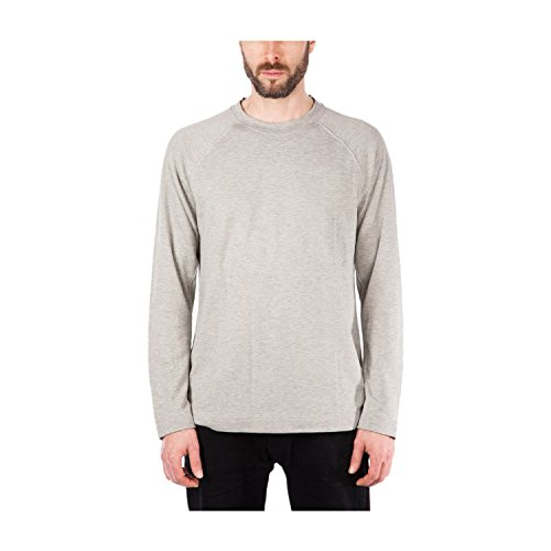 Adidas wings + horns Men's Long Sleeve Tee Grey BR0159 (Size: M) (Sleeve Shop Long Horns Apparel)