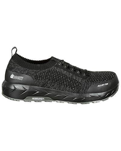 Round Men's Black Toe Work Athletic Shoes Rocky Workknit Rkk0248 Lx AdPYq