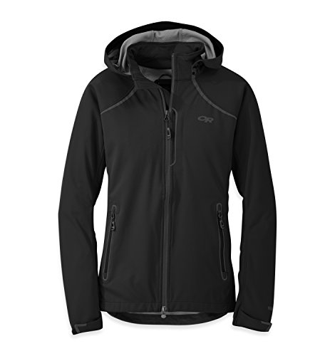 (Outdoor Research Women's Linchpin Hooded Jacket, Black, Small)