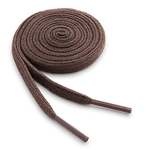 OrthoStep Cotton Flat Dress Thin Light Brown 32 inch Shoelaces 2 Pair Pack