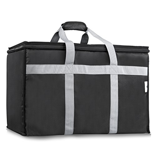 Insulated Food Delivery Bag - Upgraded Premium Interior Lining - Commercial Grade Thermal Carrier for Hot or Cold Temperatures - Perfect for Catering or Any Food Transport Occasion