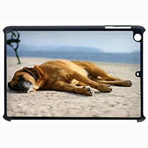 Customized Back Cover Case For iPad Air 5 Hardshell Case, Black Back Cover Design Dog Personalized Unique Case For iPad Air 5