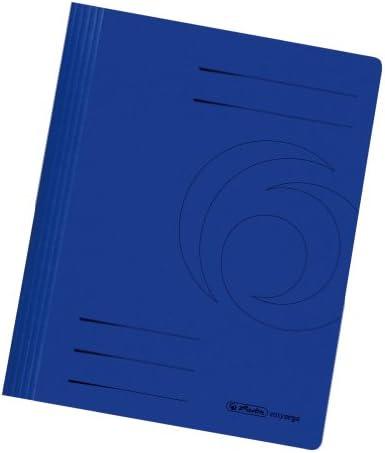 Herlitz 11036969 Schnellhefter A4 aus Karton gefaltet in dunkelblau
