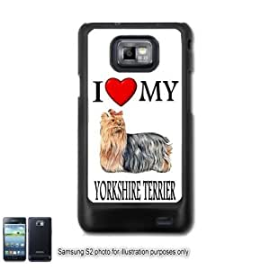 Yorkshire Terrier Yorkie I Love My Dog Photo Samsung Galaxy S2 I9100 Case Cover Skin Black (FITS AT&T AND STRAIGHT TALK MODELS ONLY)