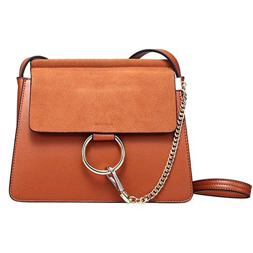 HT Messenger Bag - Bolso estilo cartera para mujer gris
