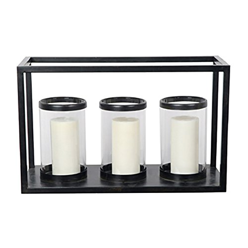 Crestview Collection Maddox Metal and Glass Candleholder by Crestview Collection