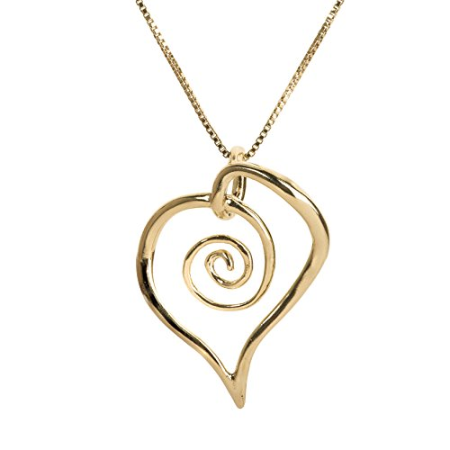 Freeform Spiral Heart Pendant Necklace product image