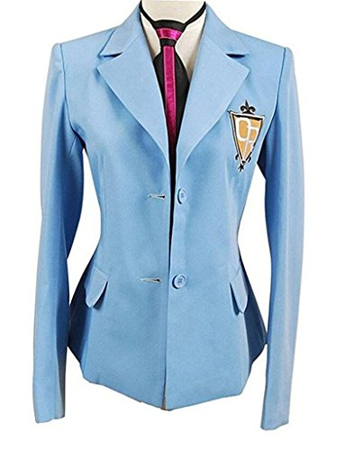 Xiao Maomi Unisex Ouran High School Host Club Cosplay Costume Blazer Uniform Blue Suits (L, (Host Club Cosplay Costumes)