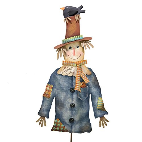 - The Round Top Collection Blue Jean Scarecrow - Metal