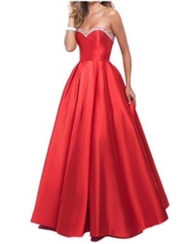 Braut Rot Abiballkleider Orange Marie Kleider Abendkleider Herzausschnitt Steine Abschlussballkleider La Jugendweihe BnRHwqAxn