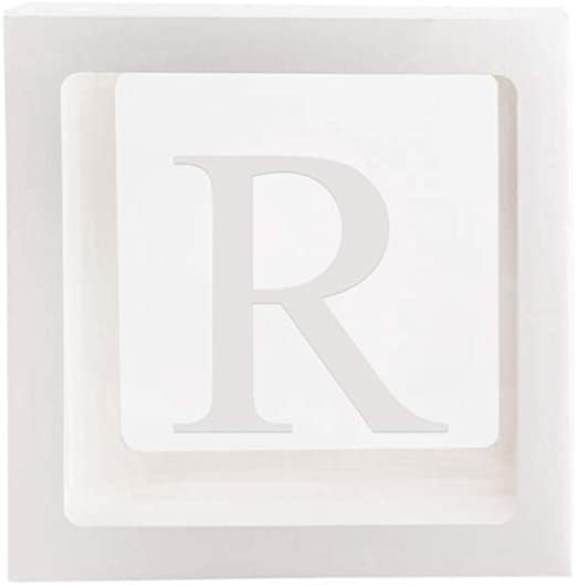 NUOCAI Letra A-Z Cubo Transparente Cajas de Regalo para Niños ...