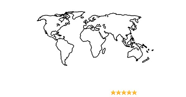 Amazon Com Temporary Tattoo World Map Outline Climate Change