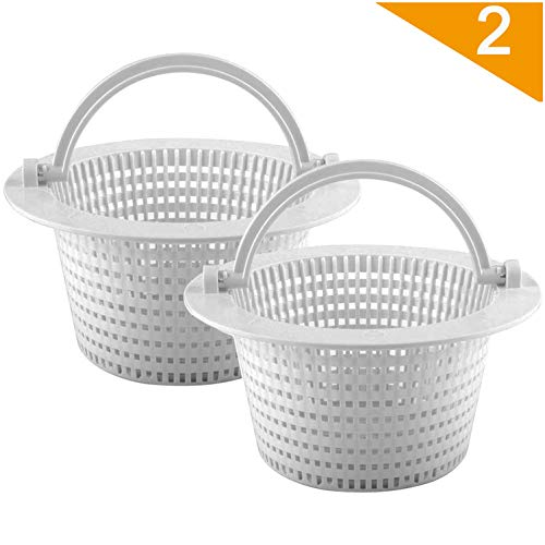 Wadoy Replacement Pool Skimmer Basket for Hayward SP1091WM, Above Ground Pool Filter Basket for Pentair HydroSkim 513330 (Pack of 2)