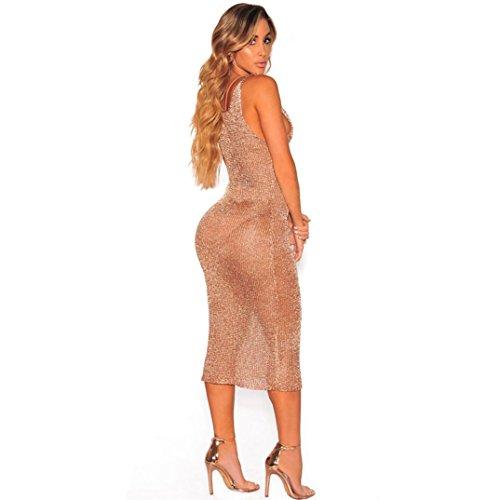 LHWY Bikini Bluse Damen Frauen Mesh Bodycon V Straps Ärmellos ...