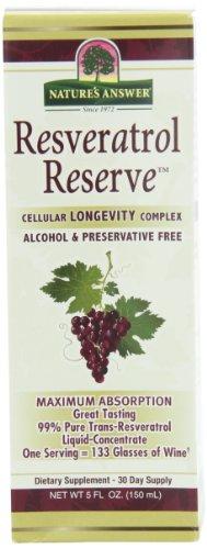 Nature's Answer Alcohol-Free Resveratrol Reserve, 5-Fluid Ounces