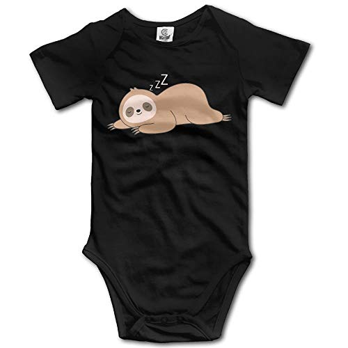 fhcbfgd Baby Clothing Cute Lazy Sloth Baby Newborn Boy Superman Bodysuits Black ()