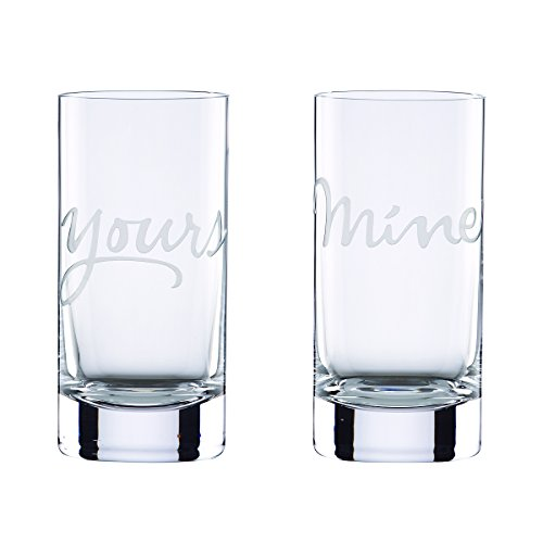 kate spade new york Two of a Kind Mine and Yours Highball Glass, Set of 2 by Kate Spade New York