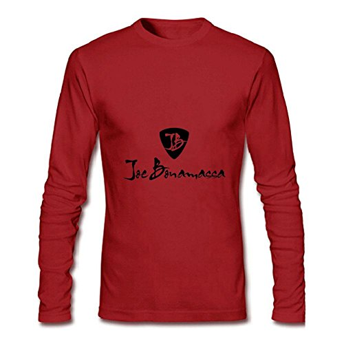 Men's YZ Joe Bonamassa Logo T Shirt For Men White Long Sleeve T-Shirt