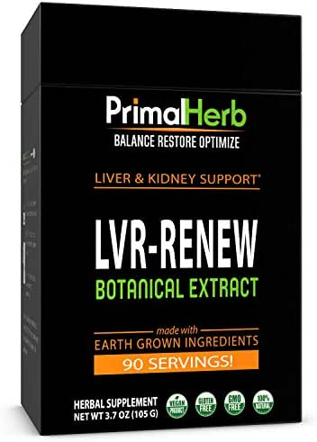 Liver Support Supplement | Cleanse, Detox & Repair | Primal Herb | Turkey Tail, Milk Thistle, Poria, Dandelion Root, Schisandra, Reishi Spores | Herbal Extract - 90 Servings - Plus Bamboo Spoon