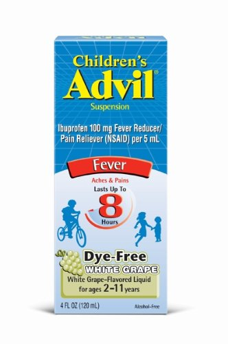 Children's Advil Suspension, White Grape, 4 Ounce (Pack of 2)