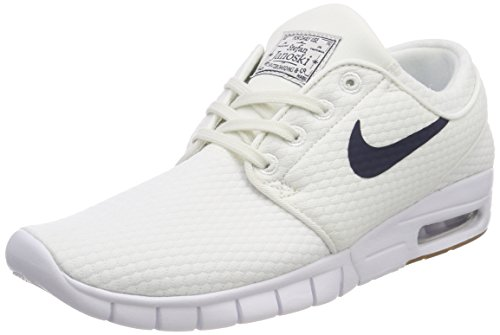 (Nike Mens SB Stefan Janoski Max Summit White/Thunder Blue-Gum MED Brown (10))
