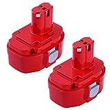 2Packs 3.6Ah Replacement for Makita 18V Battery Ni-Mh Makita 1823 1833 1834 1835 1835F 192828-1 192829-9 193061-8 193102-0 193140-2 193159-1 193783-0