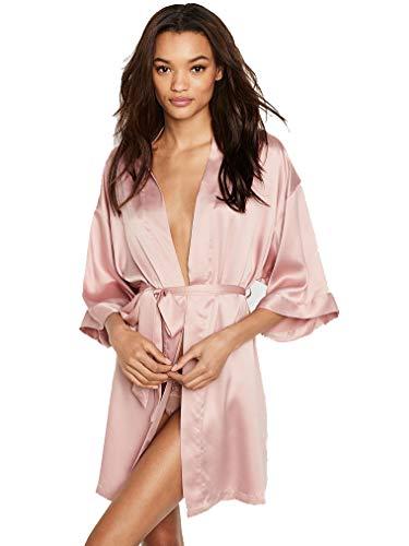 Victoria's Secret Very Sexy Short Satin Kimono Robe Love Graphic XS/S