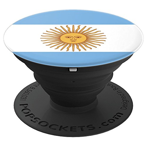 Argentina Flag - PopSockets Grip and Stand for Phones and (White Triband Phone)
