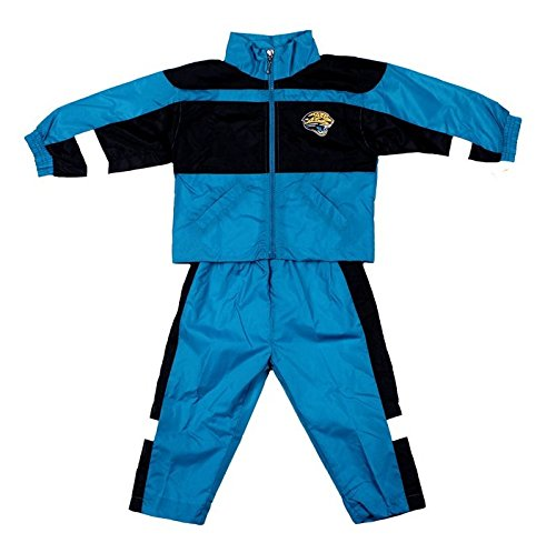 Jacksonville Jaguars NFL Boy's 2 Piece Windsuit, Teal & Black (18 Months, Teal Black) ()