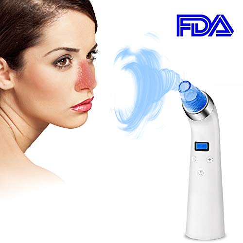 Blackhead Remover,Gasili Electric Blackhead Removal Peel Tool,Extractor Electric Skin Pore Cleaner with Led Display for Skin Vacuum Facial Treatment with 5 Adjustable Suction ()
