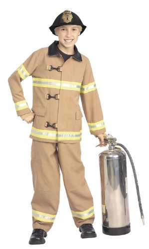 Child or Toddler Fireman Costume - Fire Fighter (4-6(fits 3-4yr) with Bracelet for Mom)