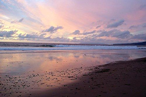 Sunset over Myrtle Beach - Beach - #43222- Art Print On Canv