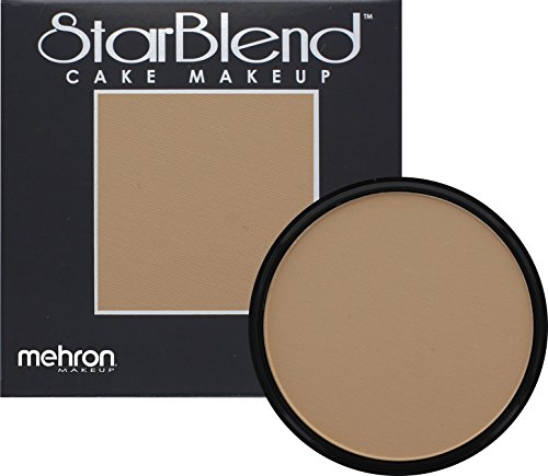[Mehron Makeup StarBlend Cake Makeup LIGHT BUFF – 2oz] (Costume Makeup Wax)