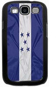 Rikki KnightTM Honduras Flag - Black Hard Case Cover for Samsung? Galaxy i9300 Galaxy S3